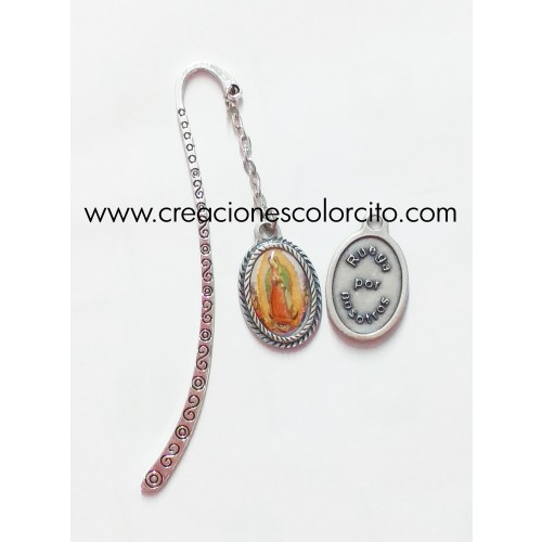 Separador baston plateado (Virgencita de Guadalupe)