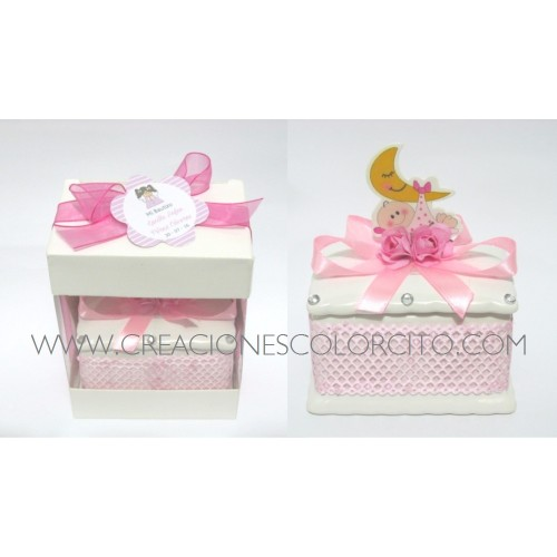 Cofre loza (rosado)