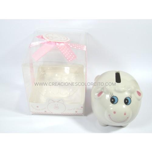 Alcancia oveja (rosada)