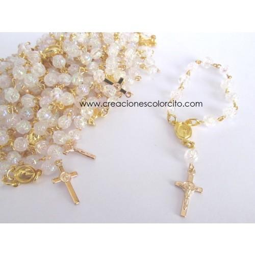 Recuerdo misa de honras-denarios transparente con dorado