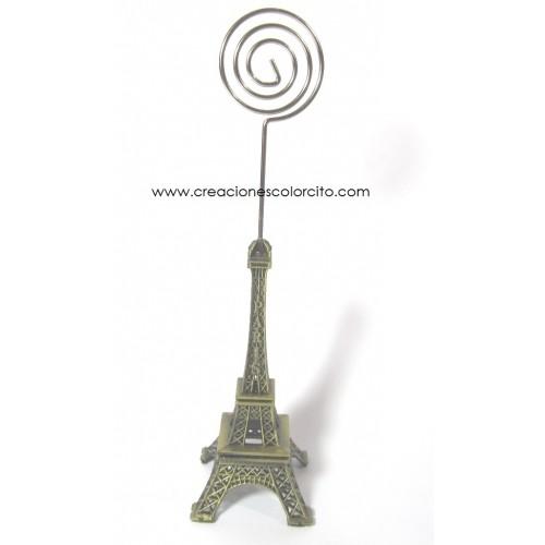 Recuerdos para quince Portapapel torre Eiffel metal