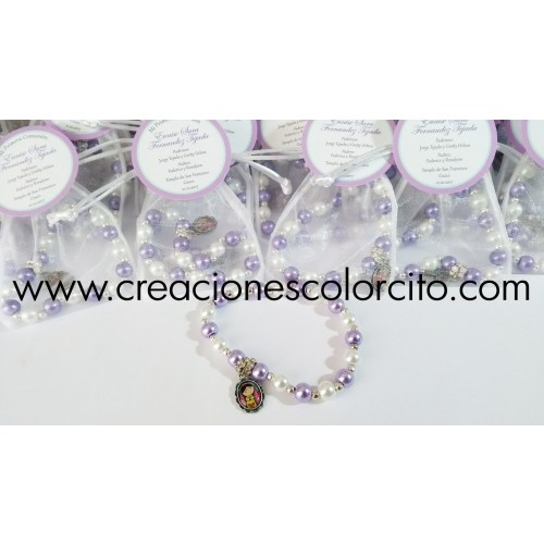 Pulsera perla y billa (lila)