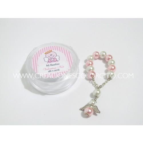 Denario perla angel (rosado)