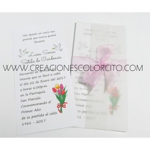 Invitacion misa (tulipan)