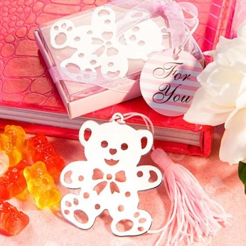Separador libro oso (rosa)