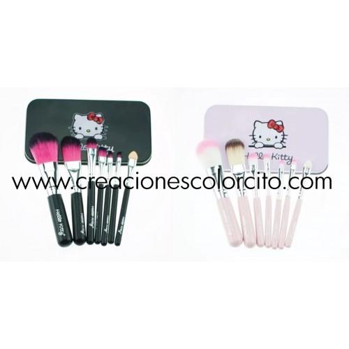 Set De Brochas Hello Kitty