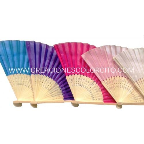 Abanico tela (colores)